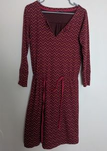North Face Chevron Zig Zag Berry Cinch Waist Dress